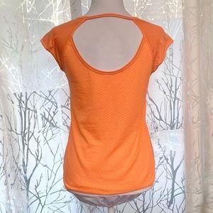 Under Armour peach orange mesh Back athletic top